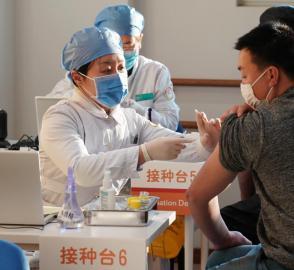 探访北京市新冠疫苗接种点[组图]